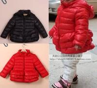 Jacadi high quality winter girls clothing princess layered dress down coat down coat red
