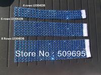 Dark Blue Color wedding table decoration 6 rows  rhinestone diamond napkin ring, crystal rhinestone napkin ring LE006DB