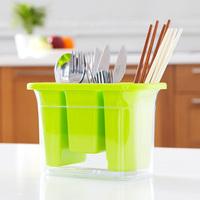 Plastic Water Thickening Chopsticks Knife Fork Spoon Tableware Dinner Set Cage Kitchen Utensils Storage Box Holder Rack Stand