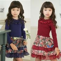 Kid's 2013 female child autumn one-piece dress child princess dress children's clothing one-piece dress