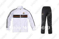 New Real Madrid Football Soccer Jackets & pants Trainning Jackets Pants kit SportWear Free Shipping