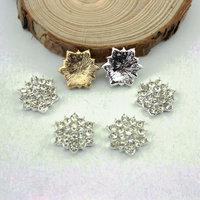 Free Shipping Wholesale 18mm Flat Back Rhinestone Button For Hair Flower Wedding Invitation 100pcs/lot BHP01010