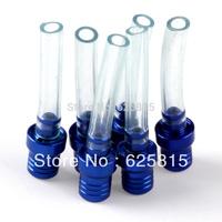 Hot Sale New 6 pcs Blue Gas Fuel Cap Vent Value Breather Hose Tube Motorcycle Scar Racing 50-558