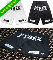 Best Version,Pyrex Vision gym Shorts 2014 Kayne West hip-pop Style Fashion Mid Loose Drawstring Shorts men