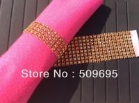 Rose Gold Color wedding table decoration 4 rows  rhinestone diamond napkin ring, crystal rhinestone napkin ring LE004RG