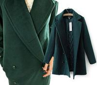 2014 new European style wool coat woolen significant lanky models thick winter Woolen coat women