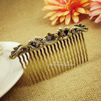 Fashion royal vintage hair accessories copper tooth plate fork insert comb bang comb