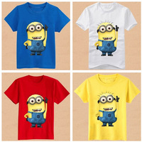 [RV] boys girls t-shirt 2015 cartoon anime figure despicable me minions clothes minion costume children's clothing kids t-shirts