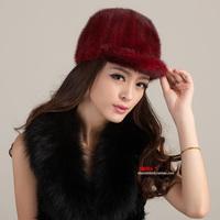 Free shipping Winter thermal women's marten hat Women mink hat fur hat fur hat