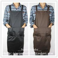 100% cotton aprons fashion work wear apron black coffee