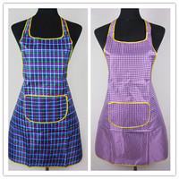 Fashion pvc waterproof rustic plaid sleeveless apron waterproof adult