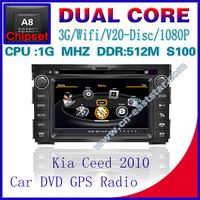 Car DVD for KIA Ceed S100 gps navigation radio bluetooth car kit TV USB Wifi 3G 1G CPU Video audio Player Free shiping 1242