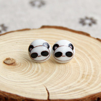 2014 new Jingdezhen ceramic stud earring zakka stud earring small accessories gift