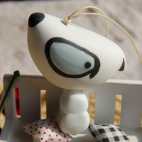 2014 new Dog ceramic wind chimes 50 jingdezhen ceramic