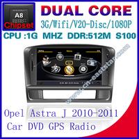 Car DVD for OPEL Astra J S100 gps navigation radio bluetooth car kit TV USB Wifi 3G 1G CPU Video audio Free shiping 1226