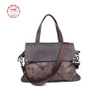 women leather handbags shoulder bags crazy horse leather canvas bag designer handbag women messenger bags