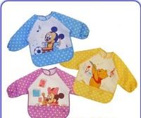 3pcs/lot Freeshipping Cotton Cartoon Baby Bibs Infant Waterproof burp cloths Kids overclothes Baby wear/Infant Garment