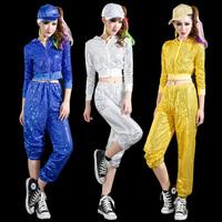 Ds costume female paillette outerwear new arrival jazz dance hiphop hip-hop hiphop modern costumes set