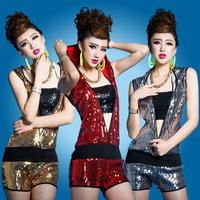 Costumes hiphop hip-hop hiphop jazz dance clothes ds costume paillette set bodysuit