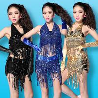 Fashion clothes sexy female singer paillette tassel set ds costume set