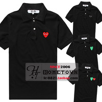Summer big play the trend of lovers male Women love 100% cotton short-sleeve polo