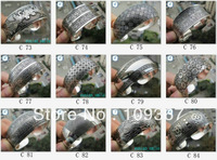 Tibeten Tibet Silver Carved Trible Totem Women Men Unisex Adjusted Cuff Bracelet Men's 20pcs < 10 Pair Antique Bracelets
