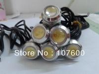 Hot!Silver ultra-thin car lights 6*1.8cm 3W Eagle Eye lamp LED For Daytime Running Light DRL Fog Light Waterproof Licence light