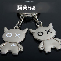 Cartoon couple key chain birthday day gift small accessories