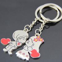 Love lovers key chain ring keychain couple key chain