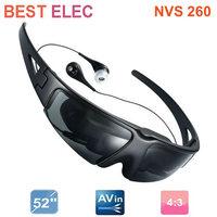 52 inch video glasses mobile digital movie theater wearing glasses display AV IN aerial video