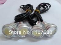 Hot!Silver ultra-thin car lights 4*2.3cm 3W Eagle Eye lamp LED For Daytime Running Light DRL Fog Light Waterproof Licence light