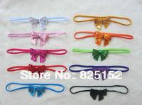Free Shipping Fashion Design 10pcs Baby Girls Kids Kids Newborn Children Sequins Bowknot Headband Hairband Bow Accessories