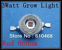 3W 660nm Grow Light Red Free shipping  High power LED 20pcs/lot