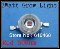 3W 660nm Grow Light Red Free shipping  High power LED 20pcs/lot