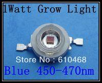 1W 450-470nm Grow Light Blue Free shipping  High power LED 50pcs/lot