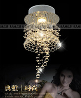 2013 small crystal ceiling lamp dia200 H400mm can make different size beauty design for free shipping champagne crystal can make