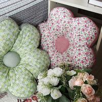 Flower cushion pillow core cushion full cotton fabric car sofa pillow cushion