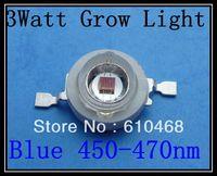 3W 450-470nm Grow Light Blue Free shipping  High power LED 50pcs/lot