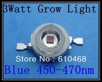 3W 450-470nm Grow Light Blue Free shipping  High power LED 50pcs/lot