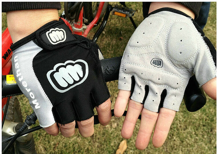 NEW Cycling Bike Bicycle Silicone half finger gloves Size XL/L /M Blue GL18589(China (Mainland))