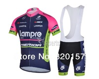 2014 Men's LAMPRE Team Cycling Wear Short jersey BIB Shorts  Bicycle Bike athletic bike Jersey Cycling Cycle Clothing sets