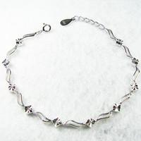 Women's s925 pure silver bracelet platinum car bracelet