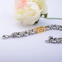 Titanium chain bracelet male accounterment silver gold platinum brief classic brief elegant unisex