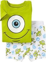 6SET / LOR Wholesale Cartoon Monster University  images Summer Medium / Small KIDS Short sleeve Baby Cotton Children Set Pyjamas