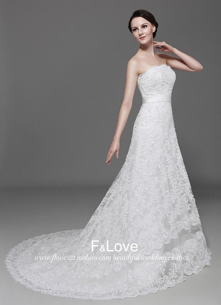 Custom made wedding dress for bridal wear lace wedding gown high quantity bridal gown princess wedding wear wholesale(China (Mainland))