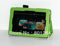 smart leather cover case with built-in stand for 2013 new amazon kindle fire HD tablet 500pcs/lot free shipping