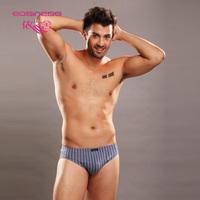 8142 male 100% cotton sexy briefs easiness men's 100% trigonometric stripe cotton panties