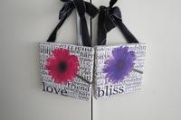 whole sales,Fashion holiday decoration fashion wall plants wood-framed flower wall letter cloth box