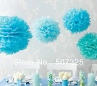 Hot Selling! ! 200pcs - 10'' Tissue Pom Pom Paper Pompoms Wedding Decoratons Party Poms House Decor, 25 Colors To Pick