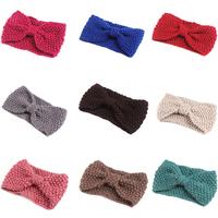 10 pieces/lot elastic knitted headband turban Crochet hair band winter knit knot head bands women hair accessories